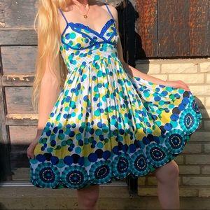 Fun colorful polka dot summer dress